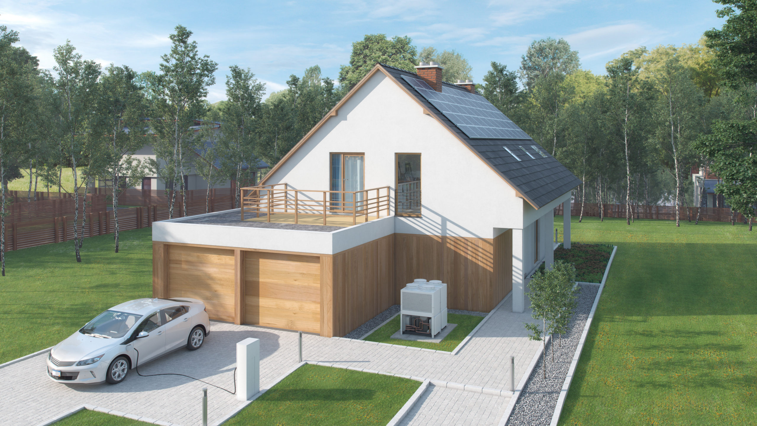 tesla electric house and car
